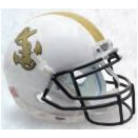 Navy Midshipmen White Schutt XP Authentic Full Size Football Helmet