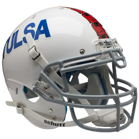 Tulsa Golden Hurricane White Schutt XP Authentic Full Size Football Helmet