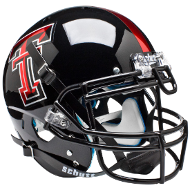 Texas Tech Red Raiders Chrome Logo Schutt XP Authentic Full Size Football Helmet