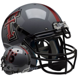 Texas Tech Red Raiders Gray 16 Schutt XP Authentic Full Size Football Helmet