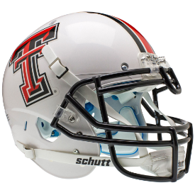 Texas Tech Red Raiders White Schutt XP Authentic Full Size Football Helmet