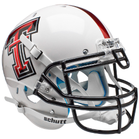 Texas Tech Red Raiders White Alt 5 Schutt XP Authentic Full Size Football Helmet
