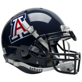 Arizona Wildcats Blue Schutt XP Authentic Full Size Football Helmet