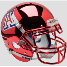 Arizona Wildcats Chrome Schutt XP Authentic Full Size Football Helmet