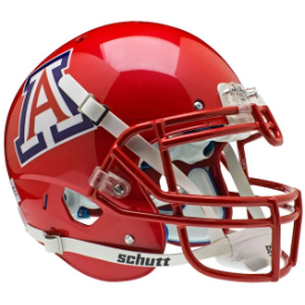 Arizona Wildcats Scarlet Schutt XP Authentic Full Size Football Helmet