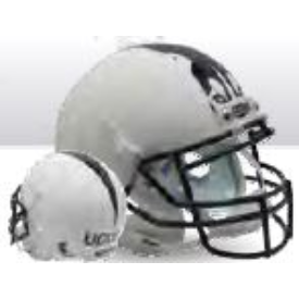 Connecticut Huskies Matte White Schutt XP Authentic Full Size Football Helmet