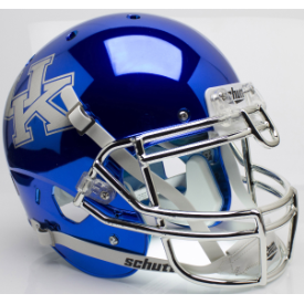 Kentucky Wildcats Chrome Blue Schutt XP Authentic Full Size Football Helmet