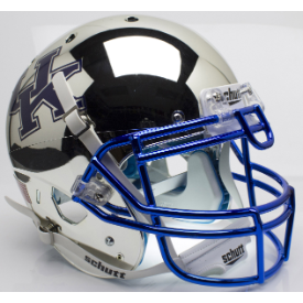 Kentucky Wildcats Chrome Silver Schutt XP Authentic Full Size Football Helmet