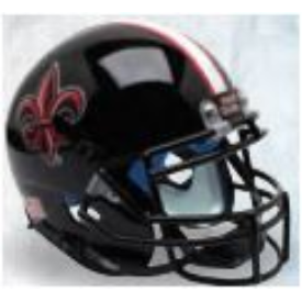 Louisiana Lafayette Ragin Cajuns Black w/Fleur De Lis Schutt XP Authentic Full Size Football Helmet