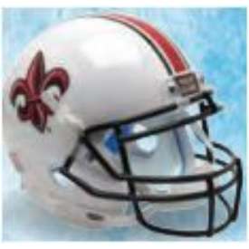 Louisiana Lafayette Ragin Cajuns White w/Fleur De Lis Schutt XP Authentic Full Size Football Helmet