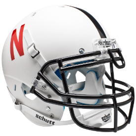 Nebraska Cornhuskers Matte White Schutt XP Authentic Full Size Football Helmet