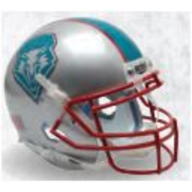 New Mexico Lobos Blue Decal Schutt XP Authentic Full Size Football Helmet