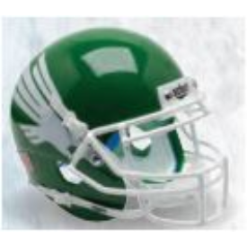 North Texas Mean Green White Eagle Schutt XP Authentic Full Size Football Helmet