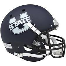 Utah State Aggies Matte Navy Schutt XP Authentic Full Size Football Helmet