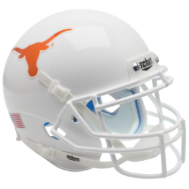 Texas Longhorns Chrome Decal Schutt XP Authentic Full Size Football Helmet