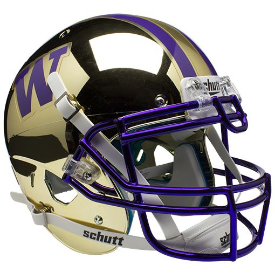 Washington Huskies Chrome Schutt XP Authentic Full Size Football Helmet