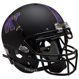 Washington Huskies Matte Black Schutt XP Authentic Full Size Football Helmet