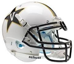 Vanderbilt Commodores White Schutt XP Authentic Full Size College Football Helmet