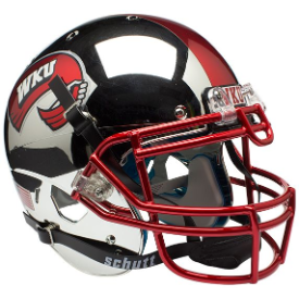 Western Kentucky Hilltoppers Chrome Schutt XP Authentic Full Size Football Helmet