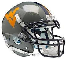 West Virginia Mountaineers Gray Schutt XP Authentic Full Size Football Helmet