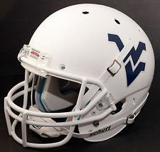 West Virginia Mountaineers Matte White Schutt XP Authentic Full Size Football Helmet