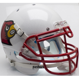 Louisville Cardinals Red Mask Schutt XP Authentic Full Size Football Helmet