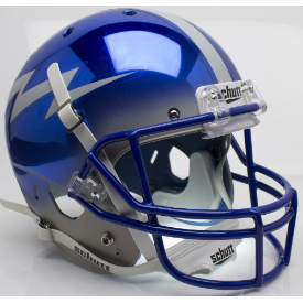 Air Force Falcons Chrome Schutt XP Replica Full Size Football Helmet