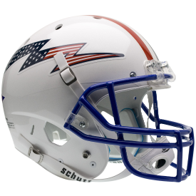 Air Force Falcons Flag Bolt w/Stripes Schutt XP Replica Full Size Football Helmet
