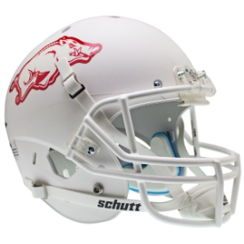 Arkansas Razorbacks Matte White Schutt XP Replica Full Size Football Helmet