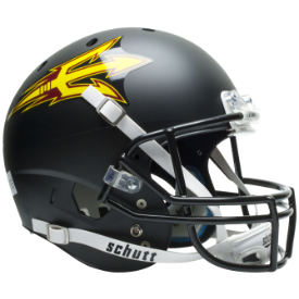 Arizona State Sun Devils Black Schutt XP Replica Full Size Football Helmet