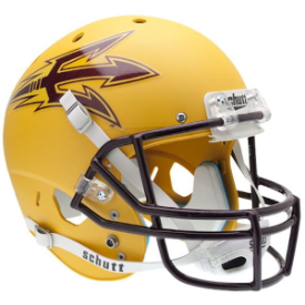 Arizona State Sun Devils Gold Schutt XP Replica Full Size Football Helmet