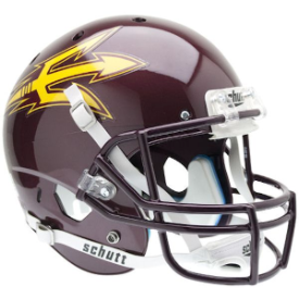 Arizona State Sun Devils Maroon Schutt XP Replica Full Size Football Helmet