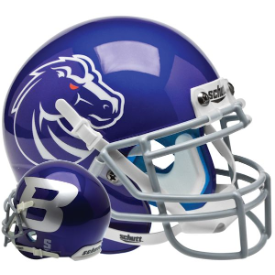 Boise State Broncos Blue Schutt XP Replica Full Size Football Helmet