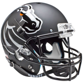 Boise State Broncos Matte Black Schutt XP Replica Full Size Football Helmet