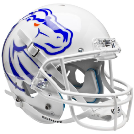 Boise State Broncos White Schutt XP Replica Full Size Football Helmet