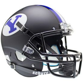 Brigham Young Cougars Matte Black Schutt XP Replica Full Size Football Helmet