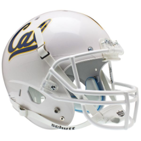 California (CAL) Golden Bears White Schutt XP Replica Full Size Football Helmet