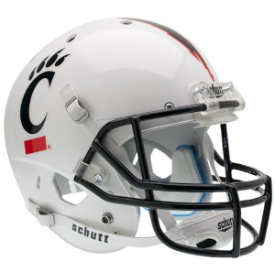 Cincinnati Bearcats White Schutt XP Replica Full Size Football Helmet