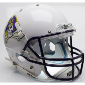 East Carolina Pirates White Schutt XP Replica Full Size Football Helmet