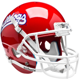 Fresno State Bulldogs Scarlet Schutt XP Replica Full Size Football Helmet