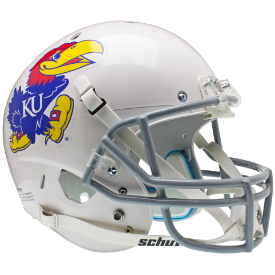 Kansas Jayhawks White Schutt XP Replica Full Size Football Helmet