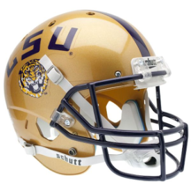 LSU Tigers Gold Schutt XP Replica Full Size Football Helmet