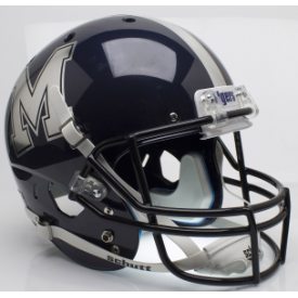 Memphis Tigers Chrome Decal Schutt XP Replica Full Size Football Helmet