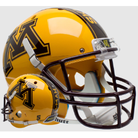 Minnesota Golden Gophers Gold Schutt XP Replica Full Size Football Helmet
