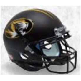 Missouri Tigers Matte Black Schutt XP Replica Full Size Football Helmet