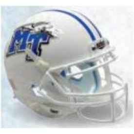 Middle Tennessee State Blue Raiders White Schutt XP Replica Full Size Football Helmet