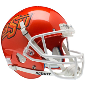 Oklahoma State Cowboys Orange Schutt XP Authentic Full Size Football Helmet