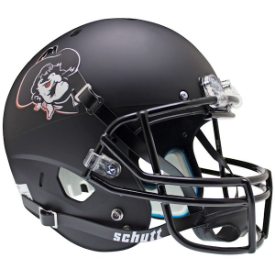 Oklahoma State Cowboys Pistol Pete Black Schutt XP Replica Full Size Football Helmet