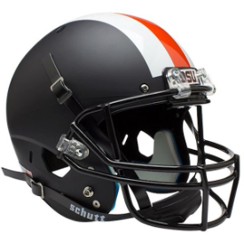 Oregon State Beavers Black w/Stripes Schutt XP Replica Full Size Football Helmet