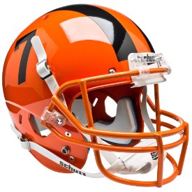 Oregon State Beavers Orange Schutt XP Authentic Full Size Football Helmet